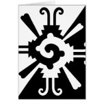 Hunab Ku-Black and White Greeting Card