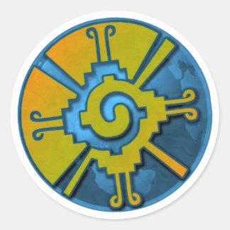 Hunab Ku Earth Classic Round Sticker