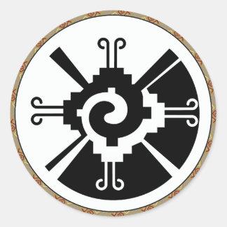 Hunab Ku - Mayan Deity Classic Round Sticker