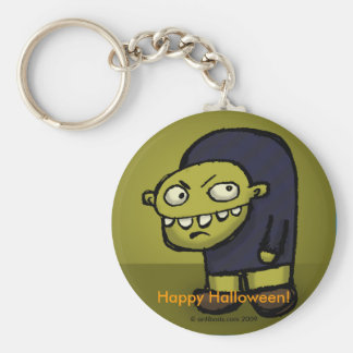 Hunch Back Stare Basic Round Button Key Ring