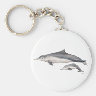 Hunchbacked dolphin of Australia Basic Round Button Key Ring