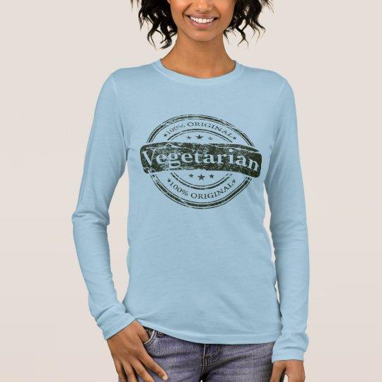 Hundred percent vegetarian long sleeve T-Shirt