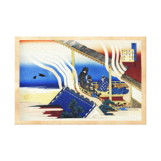 Hundred Poems Explained by the Nurse Hokusai Gallery Wrap Canvas