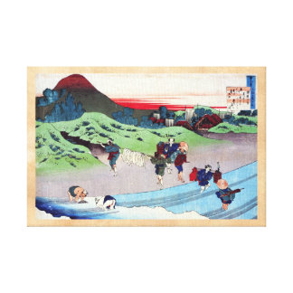 Hundred Poems Explained by the Nurse Hokusai Canvas Prints