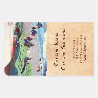 Hundred Poems Explained by the Nurse Hokusai Rectangular Sticker