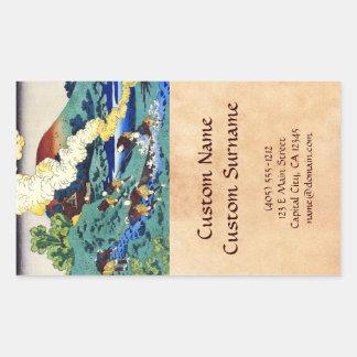 Hundred Poems Explained by the Nurse Hokusai Rectangle Stickers