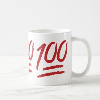 Hundred Points Symbol Emoji Basic White Mug