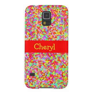 Hundreds and Thousands Multicolor Sprinkles Red Galaxy S5 Cover