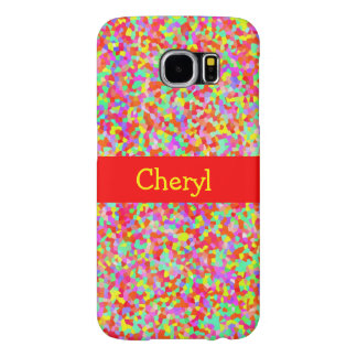 Hundreds and Thousands Multicolor Sprinkles Red Samsung Galaxy S6 Cases