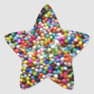 Hundreds and Thousands of Beads Star Sticker