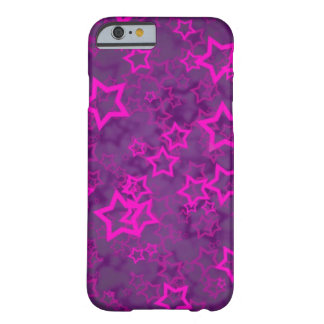 Hundreds of pink stars purple texture barely there iPhone 6 case