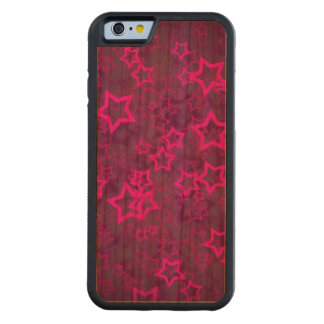 Hundreds of pink stars purple texture carved cherry iPhone 6 bumper case