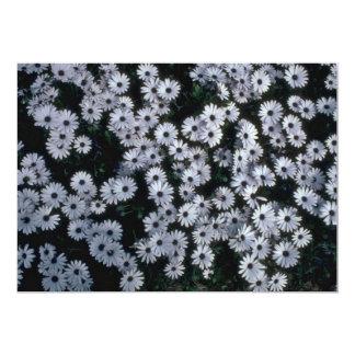 Hundreds Of White Flowers 13 Cm X 18 Cm Invitation Card