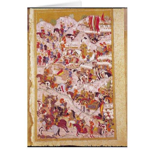 Hunername' manuscript: Suleyman Greeting Card