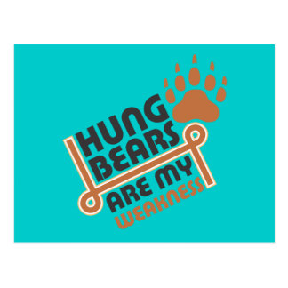 Hung bears are my weakness postcard