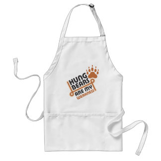 Hung bears are my weakness standard apron