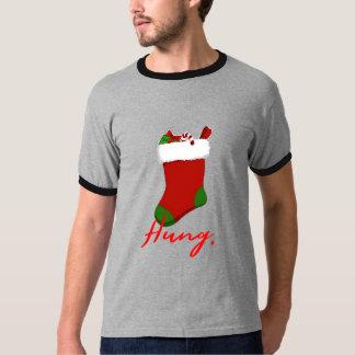 Hung christmas stocking funny christmas t-shirt