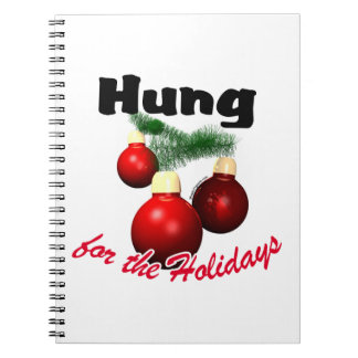 Hung for the Holidays Spiral Note Books