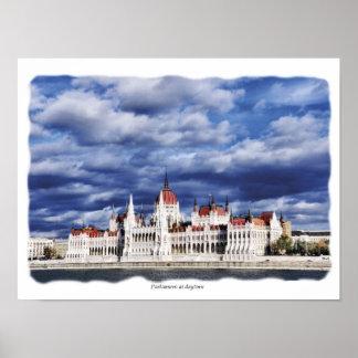 Hungaria Parliament at daytime Posters