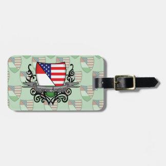 Hungarian-American Shield Flag Luggage Tag