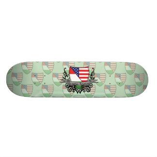 Hungarian-American Shield Flag Skate Boards