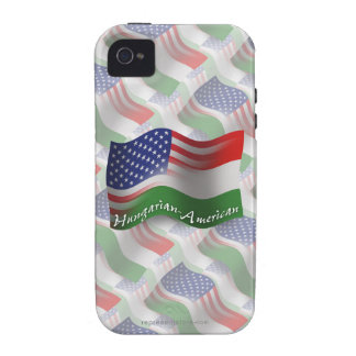 Hungarian-American Waving Flag iPhone 4 Cases