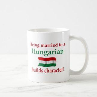 Hungarian Builds Character Basic White Mug