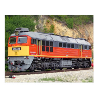 Hungarian Diesel Locomotive M62 Train Postcard