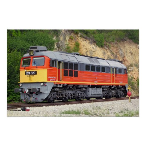 Hungarian Diesel Locomotive M62 Train Poster