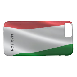 Hungarian Flag custom monogram phone cases