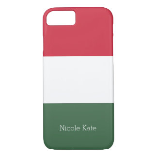 Hungarian flag iPhone 7 case