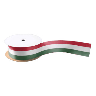 Hungarian flag ribbon satin ribbon