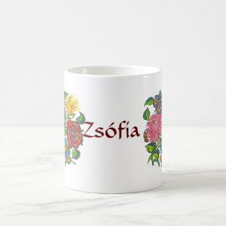 hungarian flowers coffee mug