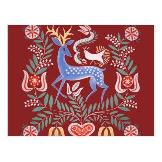 Hungarian Folk Art Postcard