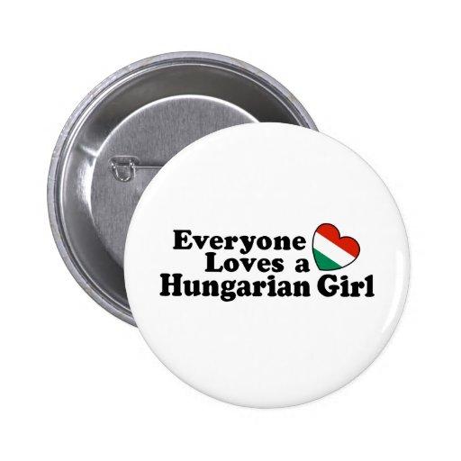 Hungarian Girl 6 Cm Round Badge