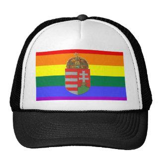 Hungarian GLBT Pride Flag Mesh Hat