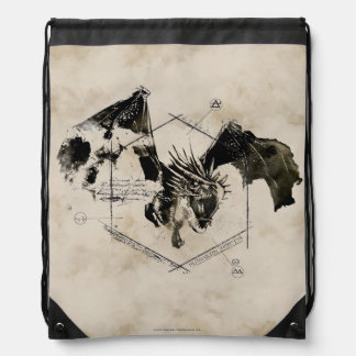 Hungarian Horntail Dragon Drawstring Bag