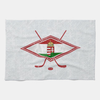 Hungarian Ice Hockey Logo Tea Towels