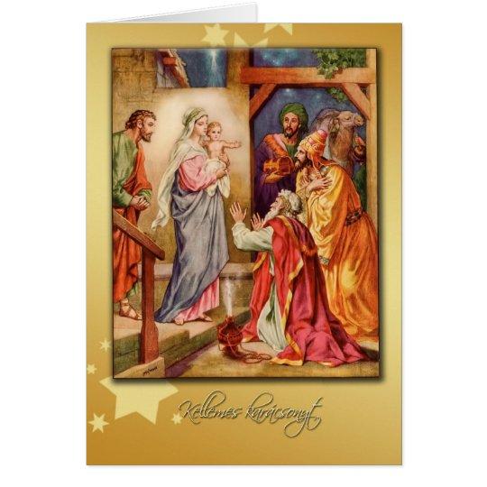 hungarian merry christmas card nativity