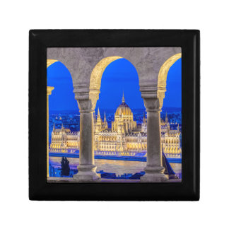 Hungarian Parliament Building at Dusk Gift Box