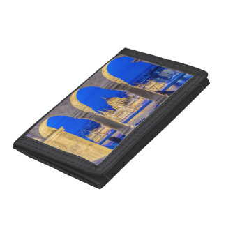 Hungarian Parliament Building at Dusk Trifold Wallet