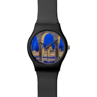 Hungarian Parliament Building at Dusk Wrist Watch