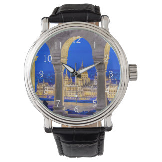 Hungarian Parliament Building at Dusk Wristwatches