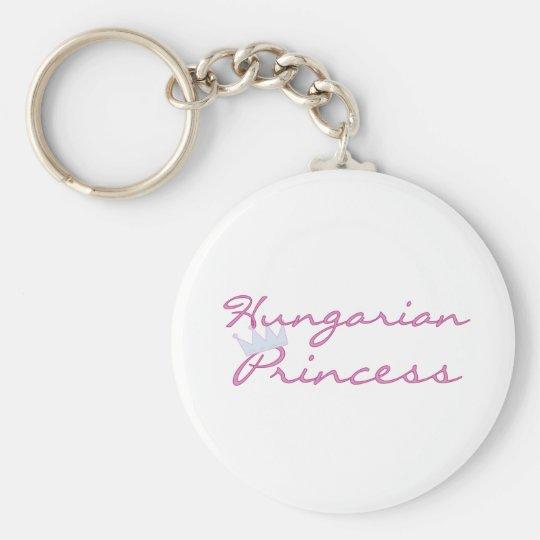Hungarian Princess Basic Round Button Key Ring