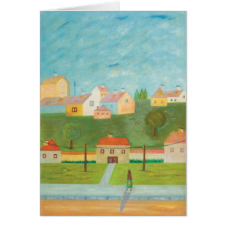 Hungarian Village Scene Note Card