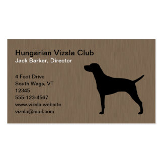 Hungarian Vizsla Dog Silhouette Pack Of Standard Business Cards