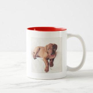 Hungarian Vizsla Puppy Two-Tone Coffee Mug