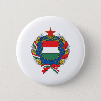 Hungary 1957 Coat Of Arms 6 Cm Round Badge
