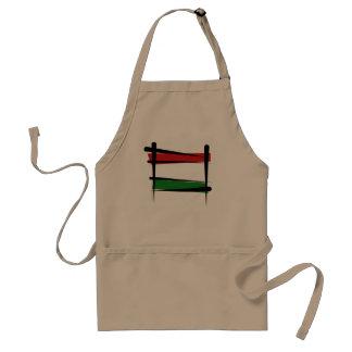 Hungary Brush Flag Standard Apron