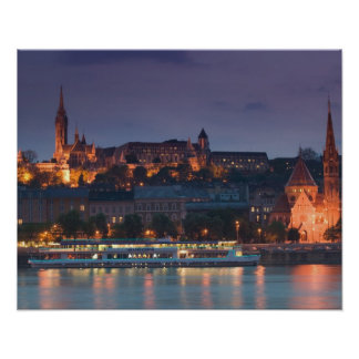 HUNGARY, Budapest: Castle Hill, Calvinist Church Poster